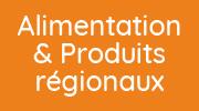 bouton alimentation et produits régionaux