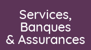Bouton menu Services, banques, assurances